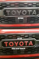 Toyota Tacoma TRD PRO Grill Emblem Decal 16 17 18 19 Voodoo Cement Calvary