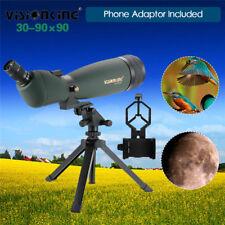 Visionking Spotting Scope Monocular Telescope 30-90x90mm FMC Zoom Tripod+Adapter