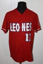 Rivera Sports Equipo De Leones Red Baseball Jersey XL