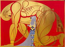 Samson and Delilah  by Erte   Paper Print  Repro
