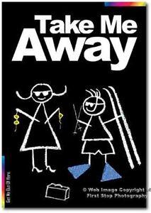 Take Me Away Card  - Chalks Designer Range - CK015 - Blank Card