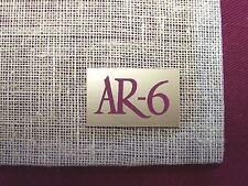 ACOUSTIC RESEARCH AR-6 NEW REPLACEMENT LOGO PLATES - PAIR