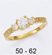 Dolly-Bijoux Alliance Solitaire T52 Diamant Cz 5mm Plaqué Or 18K 5 Microns