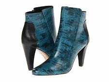 New 10 Crosby Derek Lam Sapphire ankle boots petrol lizard teal black size 7 37