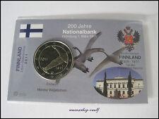 "Finnland 2 Euro Gedenkmünze 2011 BU ""Nationalbank"" in Coincard/InfoKarte"