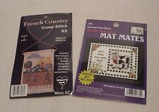 Quick & Easy Counted Cross Stitch Kits French Country and God Bless This Herd