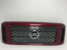 Nissan Titan XD Red Grille W/Hole for Camera 62310 EZA6A 2016-2017