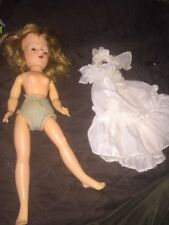 """vintage fashion doll  14"""" Makeup Painted Nails, Sleep Eye Unmarked"""