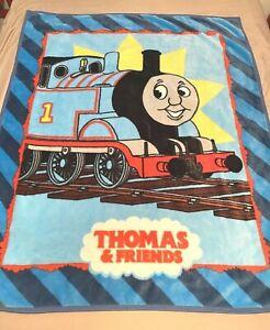 "Thomas The Train and Friends Throw Plush Blanket Twin 46"" x 60""  2005"