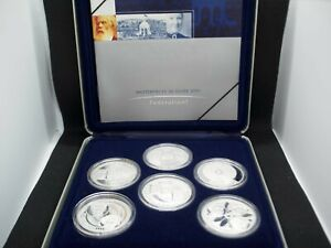 2001 Masterpieces 999 SILVER Federation 6 Coin Set  Australia What U See U GET