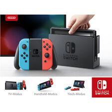 NINTENDO Switch Neon-Rot/Neon-Blau Spielekonsole, Grau, Neon-Rot, Neon-Blau