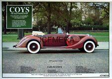 1990 Classic Car Advert Photo Print - 1939 LAGONDA LG6 DHC Ad