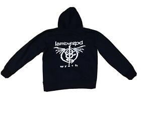 Lamb Of God Wrath Metal Band Mens black zip up hoodie medium