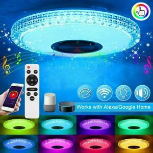 DIMMBAR 36 W RGB LED Deckenlampe Deckenleuchte Musik bluetooth