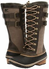 Sorel Conquest Carly II Waterproof Boots Size 5.5 Womens Leather Snow Peatmoss