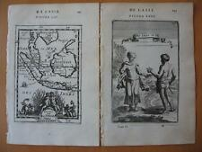 1683 - MALLET - EAST INDIES Small decorative map & print JAVA MALACCA BORNEO