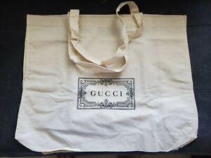Authentic GUCCI Cotton Canvas TOTE BAG Reusable  NEW!  Large Version nail
