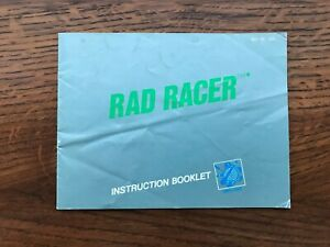 Rad Racer NES Nintendo Instruction Manual Only