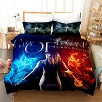 Single/Double/Queen/King Bed Doona Quilt Duvet Cover Set GOT Ice and Fire Linen