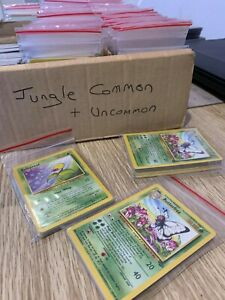 Complete Jungle Common and Uncommon Set Pokemon Cards Edition WOTC *NEAR MINT*