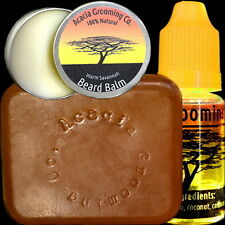 Acacia Grooming Co. | Starter Kit Beard Oil + Soap + Balm | Ourika Kenya Sav 15m