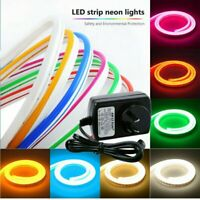 Neon LED Light Glow EL Wire String Strip Rope Tube Decor Car Party Xmas+Power