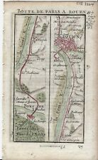 Antique map, Road: Pont-de-l'Arche to Rouen. 1774, Guide Royal par L Denis