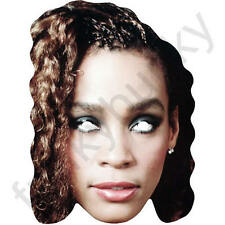 Whitney Houston 1980's Retro Card Singer Face Mask - All Our Masks Are Pre-Cut!