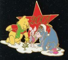 Disney Christmas Jds 2001 Santa Eeyore Winnie the Pooh Piglet Star pin