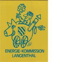 ADESIVO VINTAGE STICKER energie kommission langenthal