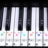 Transparent Keyboard / Piano Stickers Up To 88/61/54/49/37 Keys Set Learn PianoC