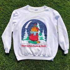 Rare VTG 70s Flirts Garfield Winter Graphic Cartoon Crewneck Sweat Shirt XL