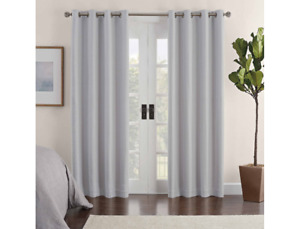 Eclipse Ambiance Draft Stopper 100% Blackout Grommet 1 Curtain Panel Gray