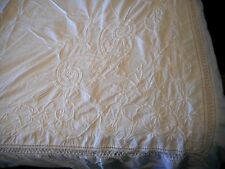 Rare Ralph Lauren Hope Chest Vintage Embrodiery White Floral King Duvet Cover