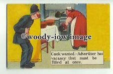 su2186 - Policeman - Cook Wanted - Comic postcard