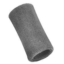 1 x LARGE SWEATBAND > 15cm Mens Ladies Sports Gym Tennis Fitness Wristband Grey