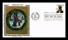 DR JIM STAMPS US VALLEY FORGE CHRISTMAS COLORANO SILK UNSEALED FDC COVER