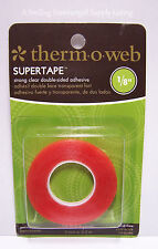 "Thermoweb Super Tape 1/8"" x 6 yd Roll Acid Free Permanent Strong Clear Dbl Sided"