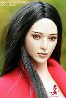 Wondery 1/6 Elsa Asian Girl Movable Eyes Head Sculpt WLS004 Fit 12'' Female Body