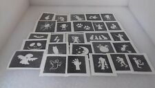25 - 400 Halloween mini stencil for glitter tattoo face painting witch ghost