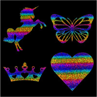 DIY Iron on Rainbow Glitter Holographic Vinyl Transfer for T-Shirt