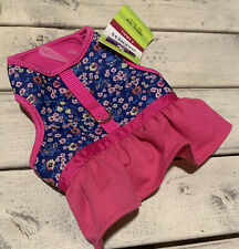 Top Paw Pink Floral Dress Harness Dog Puppy XS
