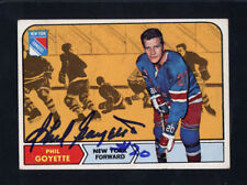 1968 Topps #73 Phil Goyette Signed Auto Autographed Card Rangers JC LOA *614425