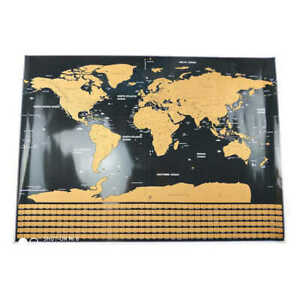 Scratch Off Map of the World Poster Wallpaper Personalized Travel Log Accurate