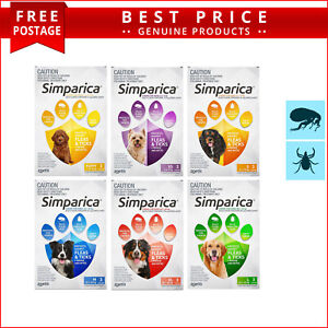 SIMPARICA Flea and Tick Prevention for Dogs 3 Doses All Sizes