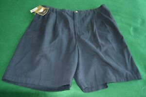 NWT Mens Sun River Clothing Black Pleated Front Cotton Shorts Sz 40