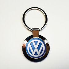 Porte-clés acier inoxydable rond Volkswagen