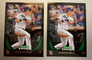 ANTHONY RIZZO 2011 BOWMAN CHROME DRAFT PRE ROOKIE LOT OF 2 CARDS CUBS YANKEES
