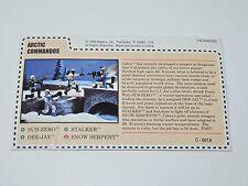 1993 GI JOE ARCTIC COMMANDOS UNCUT FILE CARD SUB-ZERO DEE-JAY STALKER SERPENT