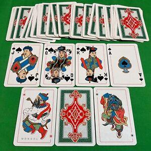 Old 1940 Vintage Piatnik Non Standard * MONGOL * Pack Playing Cards Art RARE